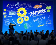 一起配合队合作企业研讨会概念 库存图片