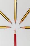 一起铅笔 库存照片