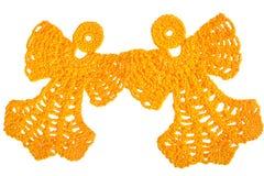 一起飞行两个的天使 免版税库存图片