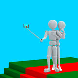 一起Selfi在隆重 免版税图库摄影