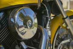 一辆习惯自行车的引擎 库存照片