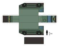 一辆军用卡车的纸模型 库存照片