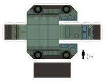 一辆军用卡车的纸模型 免版税库存图片