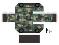 一辆军用卡车的纸模型 免版税库存照片