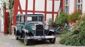 一辆古董车在德国 免版税库存图片