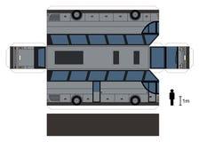 一辆大公共汽车的纸模型 库存图片