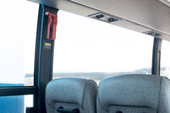 一辆大区间车的客舱 图库摄影