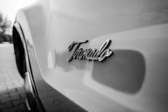 一辆大型个人汽车Oldsmobile Toronado的细节, 1968年 库存图片