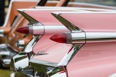 一辆大型豪华汽车卡迪拉克de Ville的片段 库存图片