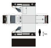 一辆小卡车的纸模型 免版税库存图片