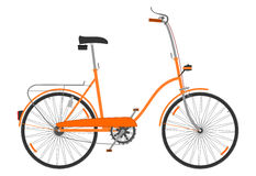 折叠的自行车。 库存照片