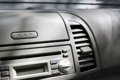 一辆小汽车,细节的内部 免版税库存图片