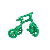 一辆小绿色自行车 库存照片