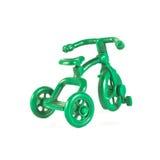一辆小绿色自行车 免版税库存照片