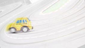 一辆快速的校车的讽刺画 免版税库存图片