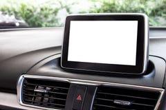 一辆新的汽车的空白的LED屏幕 免版税库存照片