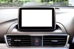 一辆新的汽车2的空白的LED屏幕 库存照片