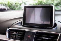 一辆新的汽车1的LED屏幕 免版税库存图片