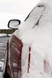 一辆汽车在冬天 免版税图库摄影
