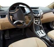 一辆现代汽车的内部 免版税库存照片