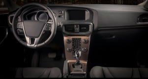 一辆现代汽车的内部 免版税图库摄影
