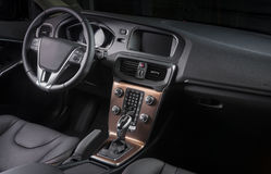 一辆现代汽车的内部 库存照片