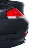 一辆现代黑汽车的后方尾巴光 免版税图库摄影