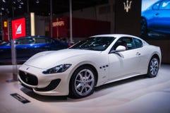 一辆白色maserati汽车 免版税图库摄影