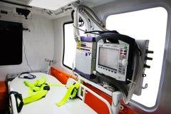 一辆空的救护车汽车 库存照片