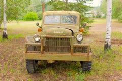 一辆老别动队员卡车在西北地区 免版税库存照片