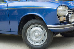 一辆老汽车的细节 免版税库存图片