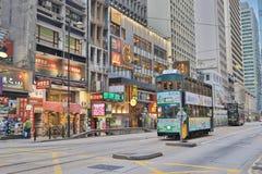 一辆老电车没有120在苍白的sheung 库存照片