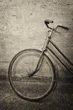 一辆老自行车 免版税库存照片