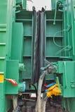 一辆老铁路汽车的内部 新西伯利亚博物馆  免版税库存照片