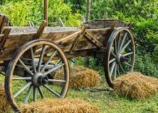 一辆老马拖车 图库摄影