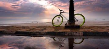 一辆自行车 免版税图库摄影