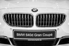 一辆行政小轿车BMW 640i Gran小轿车的细节 免版税库存图片