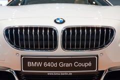 一辆行政小轿车BMW 640i Gran小轿车的细节 库存图片