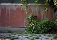 一辆被放弃的自行车 库存照片