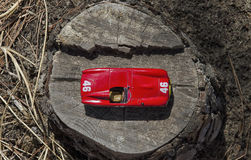 一辆赛车的看法 免版税库存图片