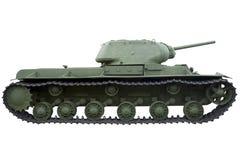 一辆重的坦克的外形 免版税库存照片
