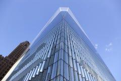 一部分的一个世界贸易中心在更低的曼哈顿纽约 库存照片