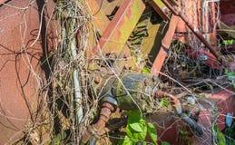 一部分的一个古老农业机器 库存照片