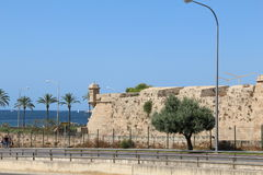一部分的一个古老堡垒,帕尔马西班牙 免版税库存照片