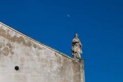 一部分的一个教会的屋顶在德温,斯洛伐克 免版税库存照片