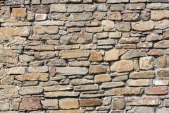 一部分的一个石墙, 免版税库存图片