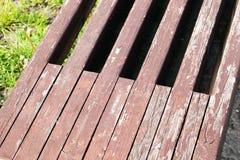 一部分的一个长木凳 库存图片