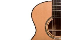 一部分的一把声学吉他十二串 库存照片