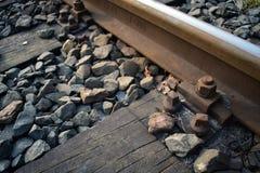 一部分的一条老铁路 今天它s不再使用的` 库存照片