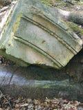 一部分的一根老柱子 库存照片
